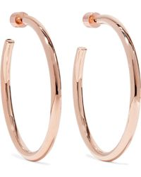 Jennifer Fisher - Baby Classic Rose Gold-plated Hoop Earrings - Lyst
