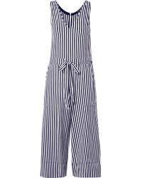 MDS Stripes - Amanda Striped Cotton-jersey Jumpsuit - Lyst