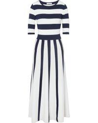 Gabriela Hearst - Capote Striped Wool-blend Midi Dress - Lyst