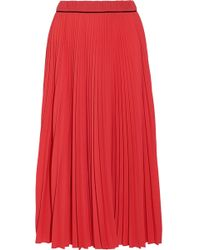 Marc Jacobs - Pleated Midi Skirt - Lyst