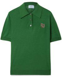 Prada - Intarsia Wool Polo Shirt - Lyst