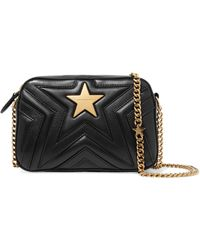 Stella McCartney - Embellished Quilted Faux Leather Camera Bag - Lyst