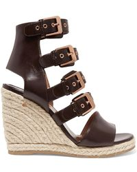 Laurence Dacade - Rosario Buckled Leather Espadrille Wedge Sandals - Lyst