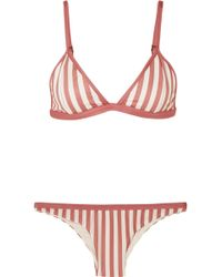 Haight - Striped Triangle Bikini - Lyst