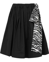 Prada | Pleated Cotton-poplin Skirt | Lyst