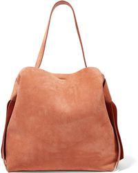 Acne Studios - Musubi Maxi Knotted Suede Shoulder Bag - Lyst