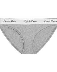 Calvin Klein - Modern Cotton Stretch Cotton-blend Briefs - Lyst