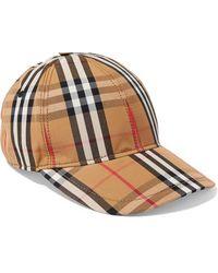 Burberry Checked Cotton-canvas Baseball Cap