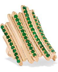 Ileana Makri - Grass Fence 18-karat Gold Emerald Ring - Lyst