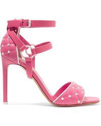 Valentino - Garavani The Rockstud Quilted Leather Sandals - Lyst