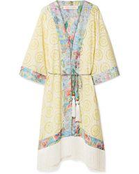 Matthew Williamson - Deia Fiesta Fringed Broderie Anglaise Kimono - Lyst