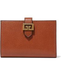 Givenchy - Gv3 Textured-leather Wallet - Lyst