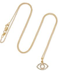 Ileana Makri - Empty Eye 18-karat Gold Diamond Necklace - Lyst