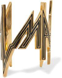 Balmain - Enameled Gold-tone Cuff - Lyst