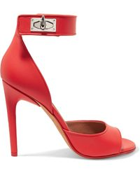 Givenchy - Shark Lock Leather Sandals - Lyst