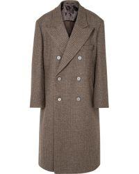 Maison Margiela - Oversized Double-breasted Checked Wool Coat - Lyst