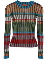 Missoni - Metallic Ribbed-knit Sweater - Lyst