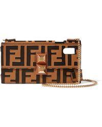 Fendi - Printed Leather Iphone X Case - Lyst