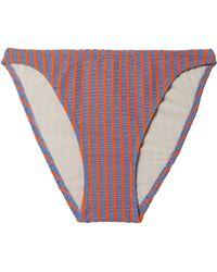 Solid & Striped - The Vanessa Striped Seersucker Bikini Briefs - Lyst