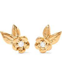Meadowlark - Alba Gold-plated Diamond Earrings - Lyst
