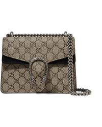 bc728f369 Gucci - Dionysus Mini Printed Coated-canvas And Suede Shoulder Bag - Lyst