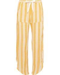 lemlem - Doro Fly Away Asymmetric Striped Cotton-blend Gauze Trousers - Lyst