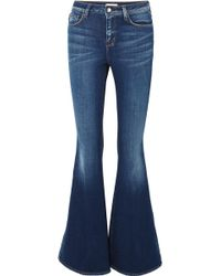 L'Agence - The Solana High-rise Flared Jeans - Lyst