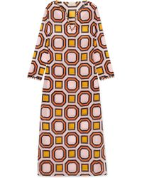 Tory Burch - Geo Embellished Printed Cotton-voile Kaftan - Lyst