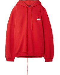 we11done - Oversized Appliquéd Cotton-blend Jersey Hooded Sweatshirt - Lyst