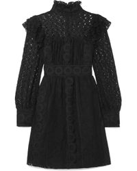 Anna Sui - Rows Of Flowers Cotton-blend Guipure Lace Dress - Lyst