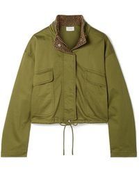 Current/Elliott - The Cropped Infantry Cropped Cotton-blend Jacket - Lyst