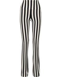 Norma Kamali - Striped Stretch-jersey Bootcut Pants - Lyst