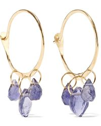 Melissa Joy Manning - 14-karat Gold Iolite Hoop Earrings - Lyst