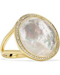 Ippolita - Lollipop 18-karat Gold, Mother-of-pearl And Diamond Ring - Lyst