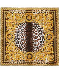 Versace - Printed Silk-twill Scarf - Lyst