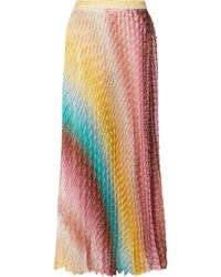 Missoni - Mare Metallic Crochet-knit Maxi Skirt - Lyst