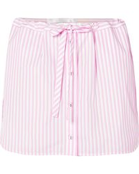 Victoria, Victoria Beckham | Layered Striped Cotton Shorts | Lyst