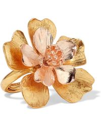 Oscar de la Renta | Yellow And Rose Gold-tone Ring | Lyst