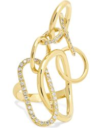 Gaelle Khouri - Qualia 18-karat Gold Diamond Ring Gold 7 - Lyst