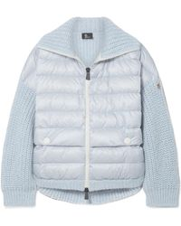 Moncler Grenoble - Oversized Quilted Shell And Knitted Cardigan - Lyst