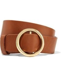 FRAME - Le Circle Leather Belt - Lyst