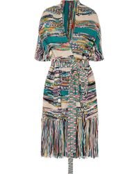 Missoni - Fringed Wool-blend Wrap - Lyst
