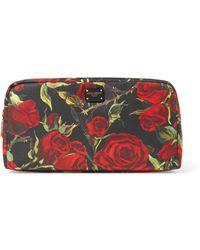 Dolce & Gabbana - Floral-print Shell Cosmestics Case - Lyst