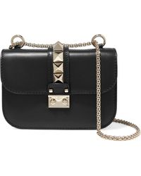 Valentino - Lock Small Leather Shoulder Bag - Lyst