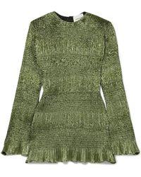 Georgia Alice - Magic Shirred Lurex Mini Dress - Lyst