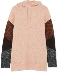 By Malene Birger | Brunilde Hooded Metallic-paneled Knitted Sweater | Lyst