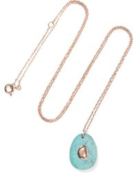 Pascale Monvoisin - Orso N°2 9-karat Rose Gold, Turquoise And Diamond Necklace - Lyst