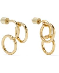 Jennifer Fisher - Triple Hoops Gold-plated Earrings - Lyst