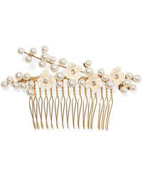 Jennifer Behr - Amelie Gold-plated, Crystal, Swarovski Pearl And Enamel Hair Slide - Lyst