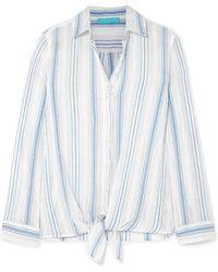 Melissa Odabash - Inny Striped Cotton-gauze Shirt - Lyst